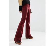 M.i.h Jeans Marrakesh Enge Samtjeans mit Schlag im Stil der 70er Rot