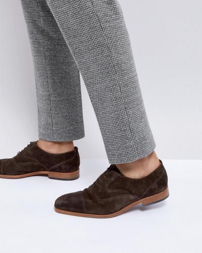 Auslasszwischenraum Standorten Paul Smith Herren Tompkins - Dunkelbraune Derby-Schuhe aus Wildleder Spielraum Beliebt Spielraum Angebote tENSWiOFnu
