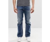 Waykee 853Y Gerade geschnittene Jeans im Used-Look Blau