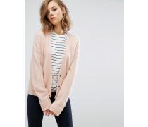 Strickjacke aus Wollmischung mit Taschen Rosa