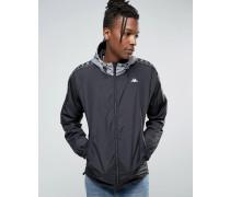 Leichte Jacke mit Paspelierung Schwarz