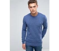 Pullover aus Merinowolle in Donegal Cornflower Blau