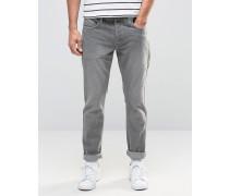 Enge Stretch-Jeans Grau