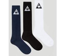 3er Pack Socken mit Logo Mehrfarbig
