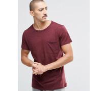 Don Neps T-Shirt mit Tasche Rot