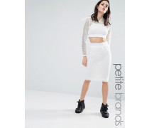 Kicks Back Figurbetonter Rock aus Netzstoff mit Gitterdesign Weiß