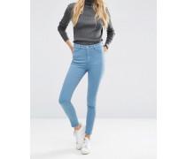 Ridley Enge Jeans mit hohem Bund in Rain-Sanftblau Blau