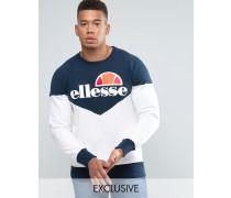 Sweatshirt mit Zickzackmuster und klassischem Logo Marineblau