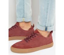 Wildleder-Sneaker Rot