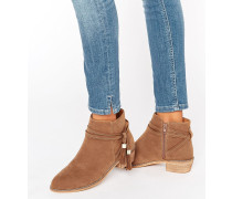ACRUX Ankle-Boots mit Quastenverzierung Bronze