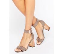 HOOLA Transparente Sandalen mit Absatz Grau