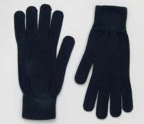 Leth Handschuhe Marineblau