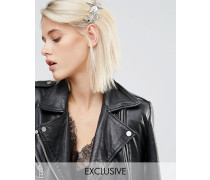 Haarspange mit 3D-Stern Silber