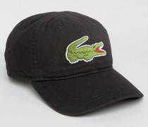 Schwarze Baseballkappe mit Logo Schwarz