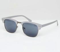 Retro-Sonnenbrille in Grau Grau
