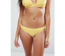 Mix-and-Match Gerippte Hüft-Bikinihosen Gelb