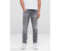 Enge Jeans in Grau Grau
