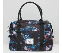 Blaue Strandtasche mit Blumenmuster Mehrfarbig