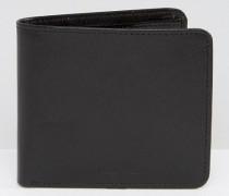 Schwarze Leder-Brieftasche Schwarz