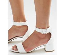 new look damen new look sandalen mit blockabsatz und. Black Bedroom Furniture Sets. Home Design Ideas