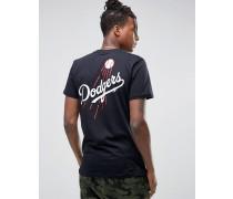 LA Dodgers T-Shirt mit Rücken-Print Schwarz