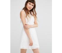 Kleid mit Gänseblümchenmotiv Weiß
