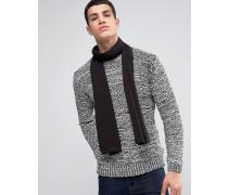 Schwarzer Schal aus Merinowolle Schwarz