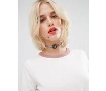 Anliegende Halskette mit Anhänger Mehrfarbig