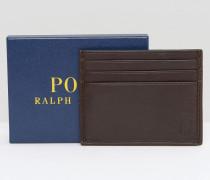 Kreditkartenhalter mit Prägung in Ponyfelloptik Braun