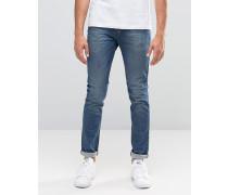 Skinny-Jeans in heller Waschung Blau