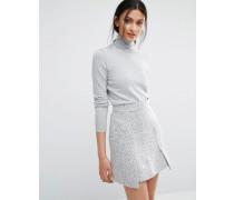 Pullover mit Polokragen Grau