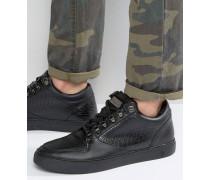 Detroit Sneaker mit Schnürverschluss Schwarz