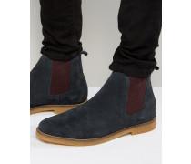 Ferdinand Chelsea-Stiefel aus Wildleder Marineblau