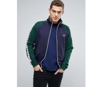 Sports Authentic Blaue Jacke mit farblich abgesetzten Ärmeln Marineblau