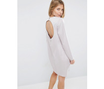 Minikleid mit tiefem Rückenausschnitt Silber