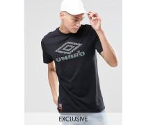 T-Shirt mit Azteken-Logo Schwarz