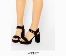 HARBOUR Weite Sandalen mit Plateausohle Schwarz