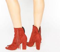ELAINE Ankle-Boots mit Peeptoe Braun