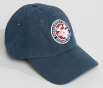 Blaue Baseballkappe mit Logo Blau