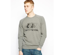 Sweatshirt mit Logo Grau