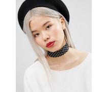 Breites Halsband mit Punkten Mehrfarbig