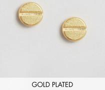 & Julie Sandlau Jue Goldbeschichtete Ohrstecker Gold