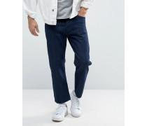 Drift Loose Jeans mit kurzem Schnitt in blauer Waschung Blau
