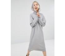Oversize-Sweatkleid Grau