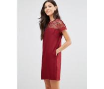 Breeze Kleid mit Spitzenoberteil Rot