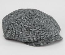 Schirmmütze aus Harris-Tweed Grau
