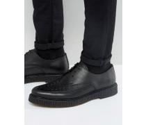 Creeper-Derby-Schuhe aus Leder Schwarz