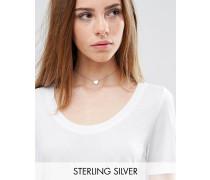 Vergoldetes Collier aus Sterlingsilber mit Herz Gold