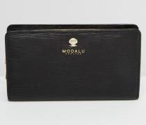 Matinee Klassische Leder-Brieftasche Schwarz