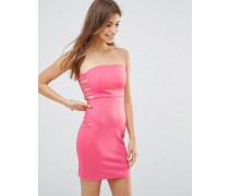Figurbetontes Kleid mit seitlicher Lasche Rosa